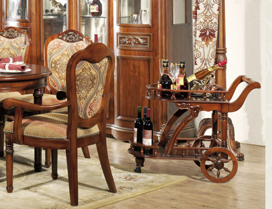 Сервировочный столик деревянный на колесах